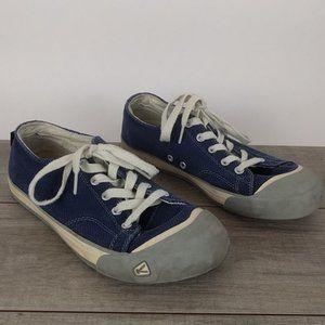 Keen Coronado Blue Canvas Lace Up Sneakers Sz 10